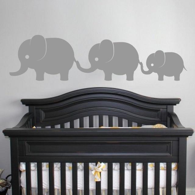 Cute Elephants Family Wall Vinyl Decal Sticker Baby S Boys Nursery Art Kids Room Jungle Theme Decor T170325