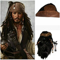 [IMCOSER] Pirates of the Caribbean Wig Cos Party Cosplay Pirates of the Caribbean Jack Sparrow Tricorn Buccaneer Cosplay Hat Wig
