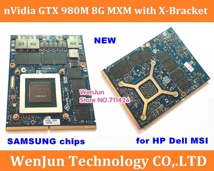 new GTX980M GTX 980M Graphics Card with X Bracket N16E GX A1 8GB GDDR5 MXM For