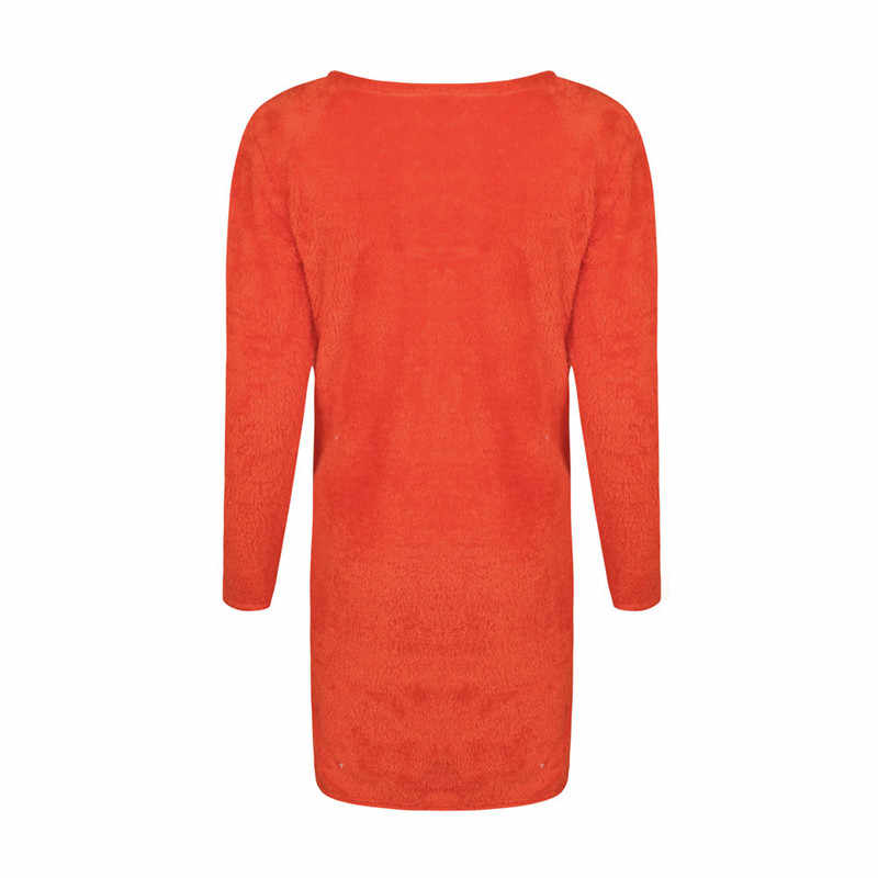 Mantel Wanita Fashion Leher V Warna Solid Cardigan Mantel Kantong Dekorasi Wanita Musim Gugur Musim Dingin Hangat Nyaman Mewah Tipis