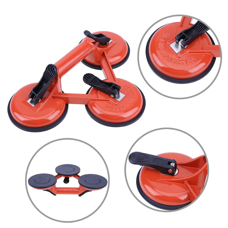 Three Claw Tile Floors Suction Cup Aluminum Alloy Glass Suction Cup Dent Remover Sucker Home DIY Tools for Floors Doors Solder