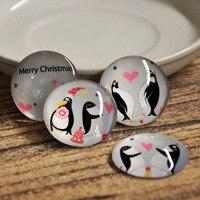 משלוח חינם (4 יח'\סט) פינגווין חג המולד זכוכית קריסטל לוח מגנט מדבקות מקרר קישוט הבית