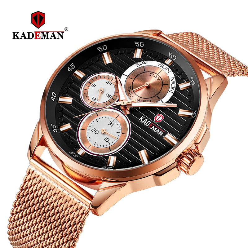 2019 Luxury Mens Watches Casual Business Male Wristwatch Full Steel 3ATM Sport Watch TOP Brand KADEMAN New Fashion Clock Relogio2019 Luxury Mens Watches Casual Business Male Wristwatch Full Steel 3ATM Sport Watch TOP Brand KADEMAN New Fashion Clock Relogio