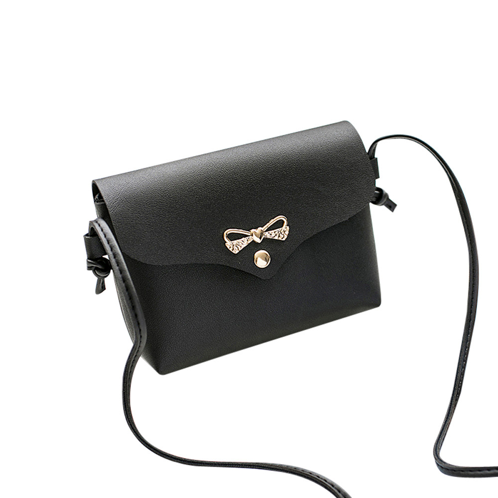 Fashion Women Shoulder Bag luxury handbags women bags designer Solid Cover Bow Crossbody Bag Messenger bags for women 2018