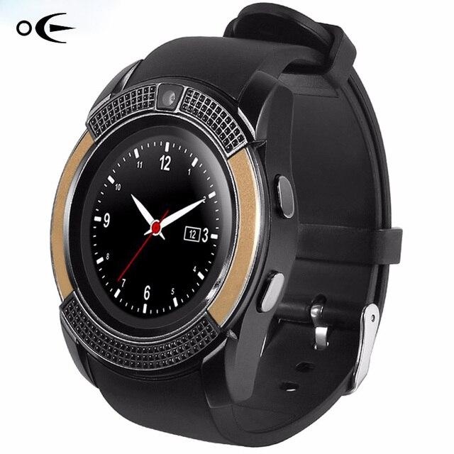 Оригинальные спортивные часы Для мужчин полный Экран Смарт-часы Для мужчин V8 модные часы для Android и IOS Телефон Bluetooth SmartWatch Для мужчин часы