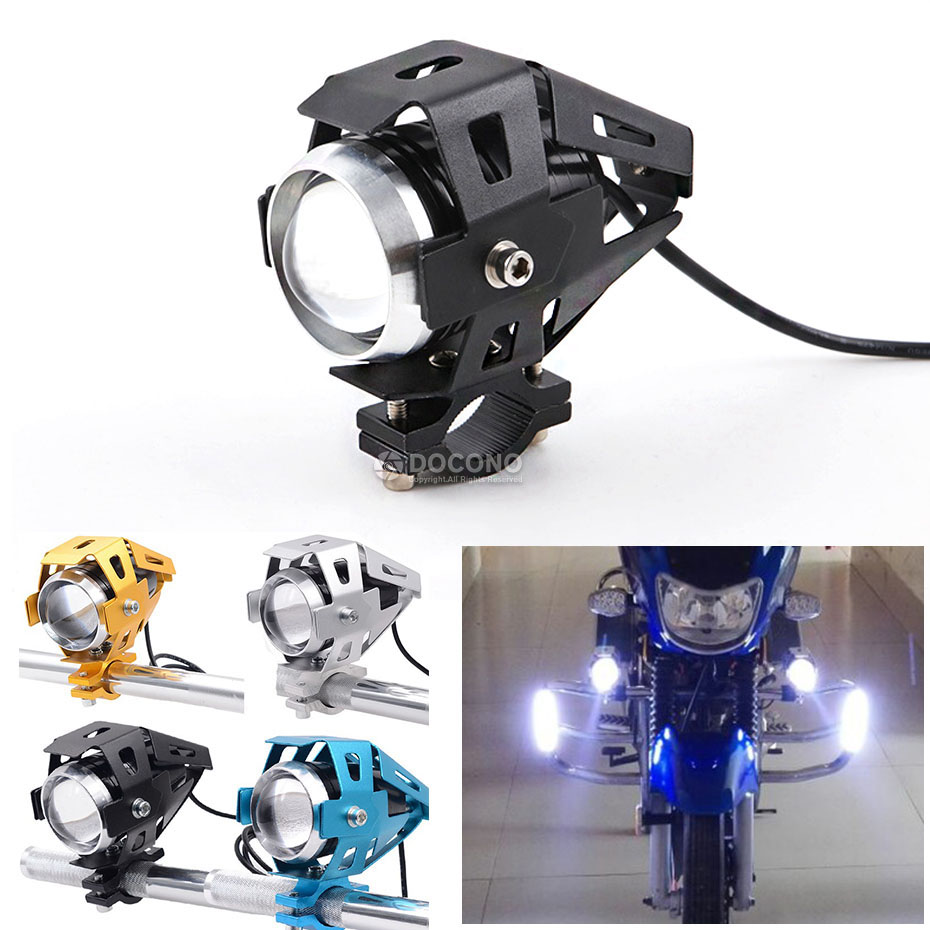 Universal Motorcycle LED headlight super bright flashing light For SUZUKI gladius 400 gsf 1250f dl 650 For YAMAHA tdm 850 etc.