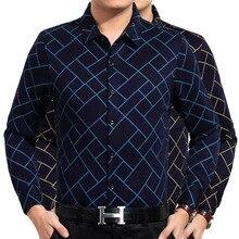 2016 Winter Males's Shirts Cotton Thicking Plaid Print Flip-down Collar Full Velvet Shirt Informal Enterprise Males Shirts Freeshipping