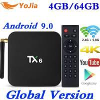 Newest Smart TV Box Android 9.0 Tanix TX6 Allwinner H6 4GB RAM 64GB ROM 32G 4K 2.4G/5GHz Dual WiFi 2G16G PK HK1 MAX Media Player