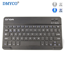 DMYCO Portable Slim Multimedia Aluminum 7 Wireless Bluetooth Keyboard For Windows Android Tablet PC Windows IOS iPad Mini