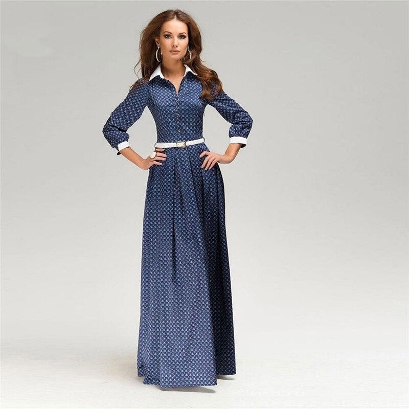 Plus Size S 3XL New Women summer Dress Long Sleeve Elegant ...