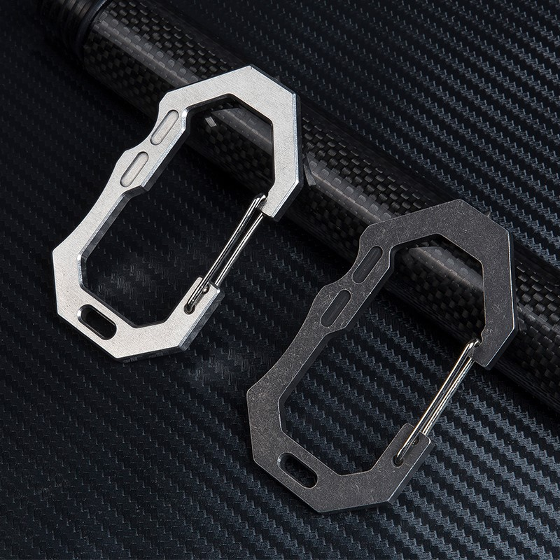 Tungsten Steel Head Hanging EDC Double Hole Key Chain Backpack Buckle Lock Men 39 s Creative Stainless Steel Outdoor Hook in Crowbars from Tools