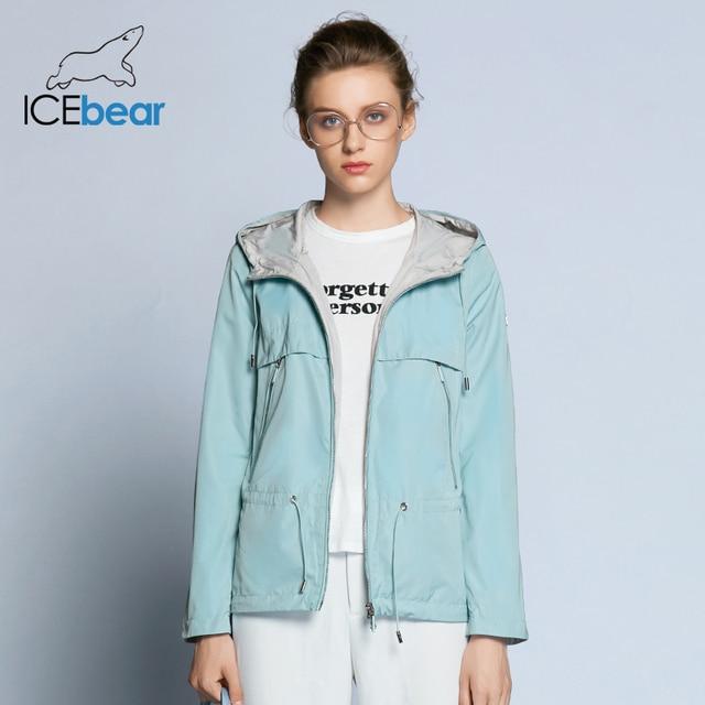 ICEbear 2019 חדש אביב נשים תעלת מעיל אישה באיכות גבוהה מעיל מזדמן מעיל רוח מותג נשים של סתיו מעיל GWF18022D