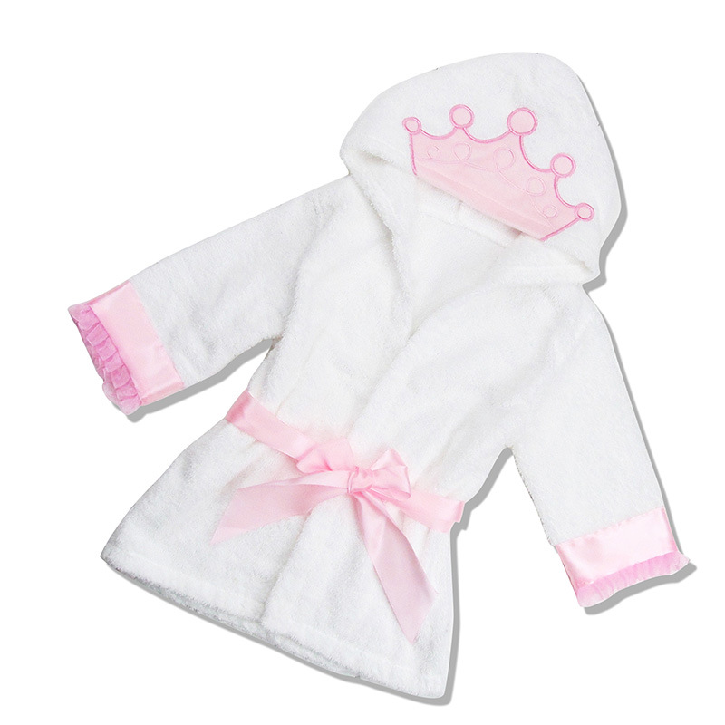 db97ae5c27 Blue Pink Shark Cotton Towel Fabric Animal Modeling Hooded Baby Bathrobe  Soft Cartoon Kids Bath Robe Towel Infant pijamas Dress-in Bath Towels from  Home ...