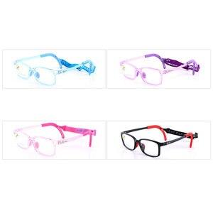 Image 2 - 8537 çocuk gözlük çerçevesi erkek ve kız çocuklar için gözlük çerçeve esnek kaliteli gözlük koruma ve görüş düzeltme