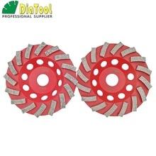 цена на 2pcs Diameter 125mm Diamond Grinding Cup wheel for Concrete, 5 inch Grinding disc, Segmented turbo type