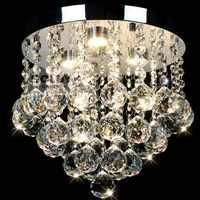Lámpara LED moderna redonda De cristal para techo, decoración para el hogar DIY, lámpara De techo acrílica para salón, pasillo, dormitorio, Lustres De Sala