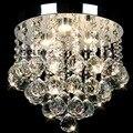 Modern Rodada Luzes de Teto de Cristal Levou Luzes Do Corredor de Cristal Luzes De Teto Quarto Lustres De Sala transporte Branco Fresco branco Morno