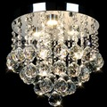 Modern Round Crystal Ceiling Lights Led Aisle Lights Crystal Bedroom Ceiling Lights Lustres De Sala Warm White Cool White