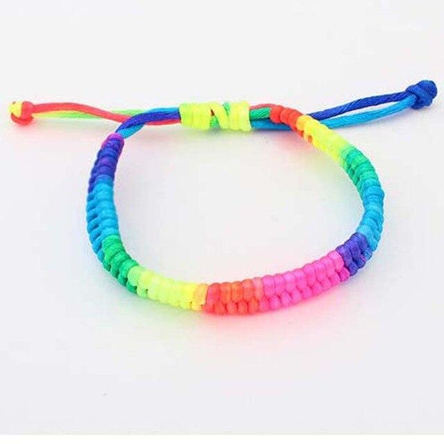 20Pcs Colorful Woven Surfer Wristband Braided Cord Friendship Band Bracelets DIY