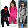 Nuevo 2017 de la alta calidad los niños polo niños deportes set activo cómoda ropa para la primavera y el otoño