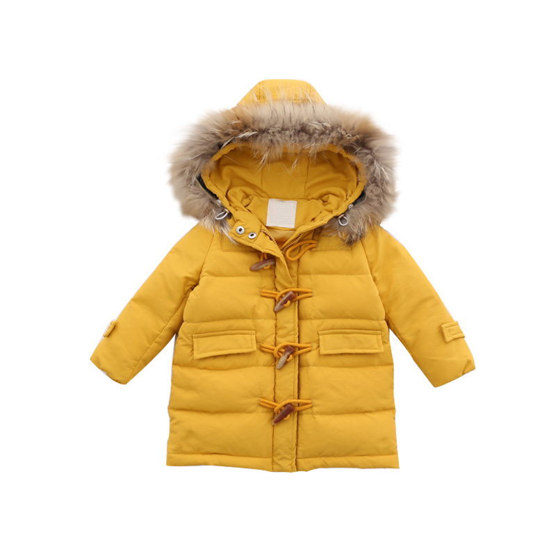 Fashion 2018 Warm Children Winter Jacket Children Clothing Windbreaker Casual Hooded Girl Thick Warm Coat Long Down Jacket 2-10T casual 2016 winter jacket for boys warm jackets coats outerwears thick hooded down cotton jackets for children boy winter parkas