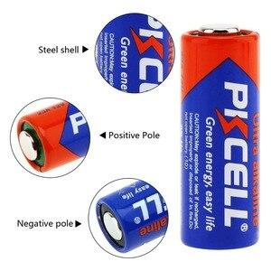 Image 2 - 4Pack/20Pcs PKCELL Batteria 12V 23A 12V Battery Alkaline Batteries MN21 A23 12V Baterias For Doorbell Sex toy Alarm