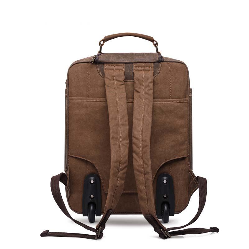 e1601399499f LeTrend 16 inch Retro USB Rolling Luggage Men Business Suitcase Wheels  Canvas Cabin Trolley Multifunctional shoulder Travel Bag-in Carry-Ons from  Luggage ...