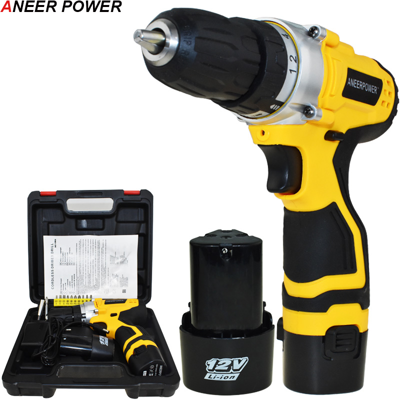 Mini 12v Electric Screwdriver Power Tools Electric Drill Cordless Drill Li-ion Battery Capacity Drill Batteries Screwdriver 1 5ah battery capacity drill 12v mini cordless drill power tools electric screwdriver electric drill batteries screwdriver