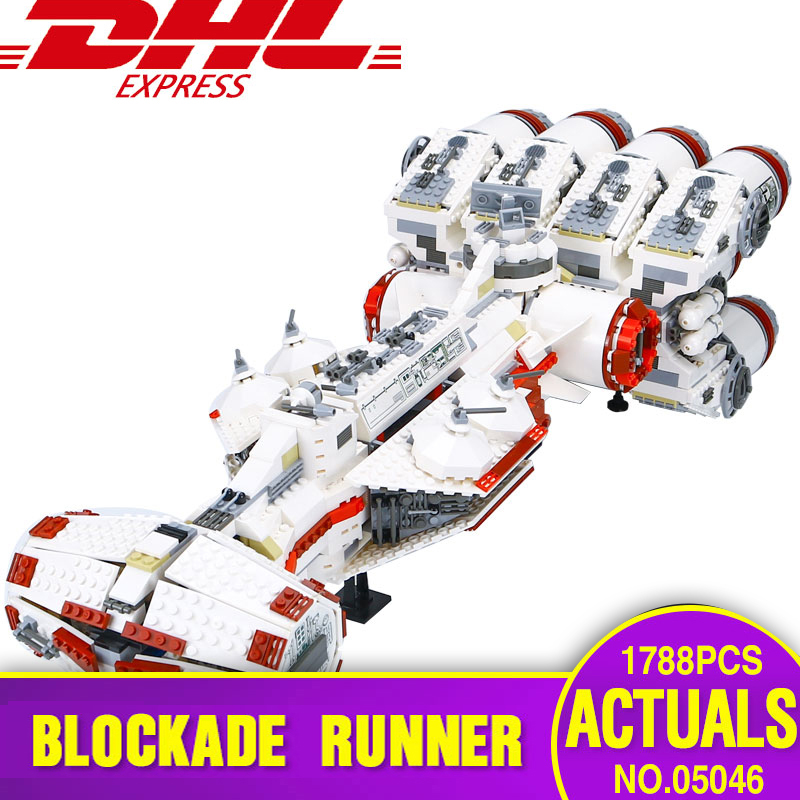 DHL 05046 Star Series Toys The 10019 Tantive model IV Funny Blockade Runner Set Educational Building