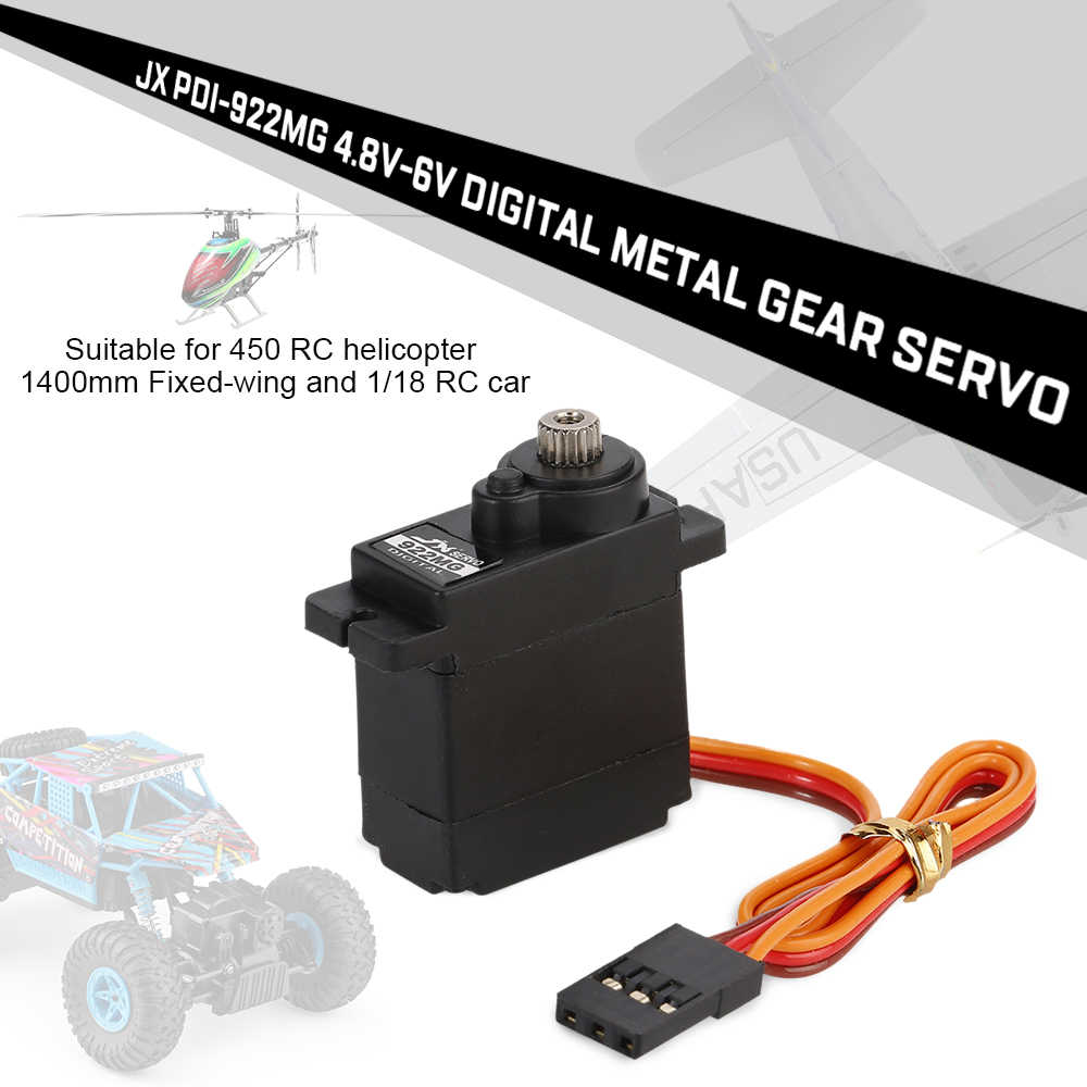 PDI-922MG 4.8V-6V 0.10sec/60  2.0kg Digital Metal Gear Servo Metal Aluminum Case for 450 RC Airplane Helicopter RC Car 1/18