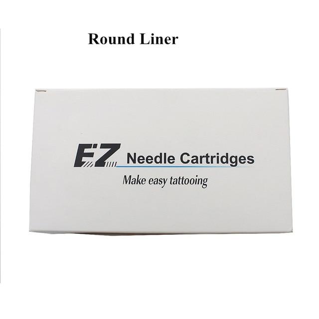 EZ Needle Cartridge Regular Long Taper Round Liner For Cartridge System Rotarty Tattoo Machine 20PCS/Box