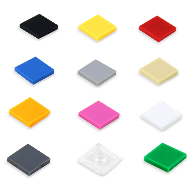 100Pcs Flat Tile 2x2 DIY Enlighten MOC Plastic Building Block Bricks Toys For Kids Compatible With Legoed Assembles Particles free shipping diamond diy enlighten block bricks compatible with lego assembles particles