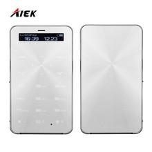 Лидер продаж AIEK DXS5 S5 low radiation для детей ультра-тонкие карты сотовый телефон Водонепроницаемый пыле Bluetooth Dialer PK AIEK E1 C6