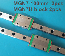 Kossel Pro Miniature 7mm linear slide :2pcs MGN7 – 100mm rail+2pcs MGN7H carriage for X Y Z axies 3d printer parts
