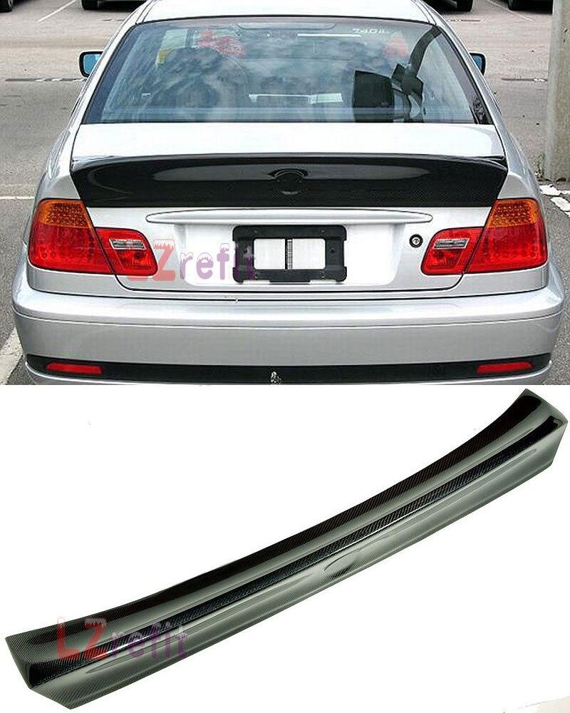 Véritable aileron de coffre en Fiber de carbone CSL plus grande lèvre de botte d'aile adaptée pour BMW E46 coupé 2 portes de 3 séries 1998-2005