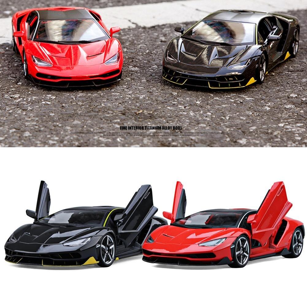 Lamborghini LP770-4 voiture de sport modèle 1:18 échelle simulée alliage voiture jouet décoration de la maison
