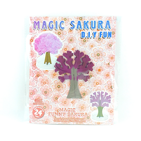 2019 90mm H Artificial Magical Grow Paper Sakura Trees Magic Growing Tree Japan Desktop Cherry Blossom Christmas Gifts Kids Toys in Gags Practical Jokes from Toys Hobbies