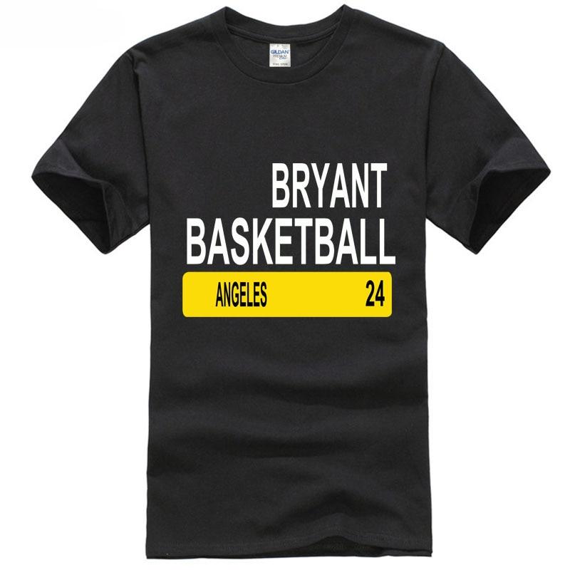 2018 Легенда человек Брайант 24 Лос-Анджелесе Баскетболисту футболка Повседневное короткий рукав
