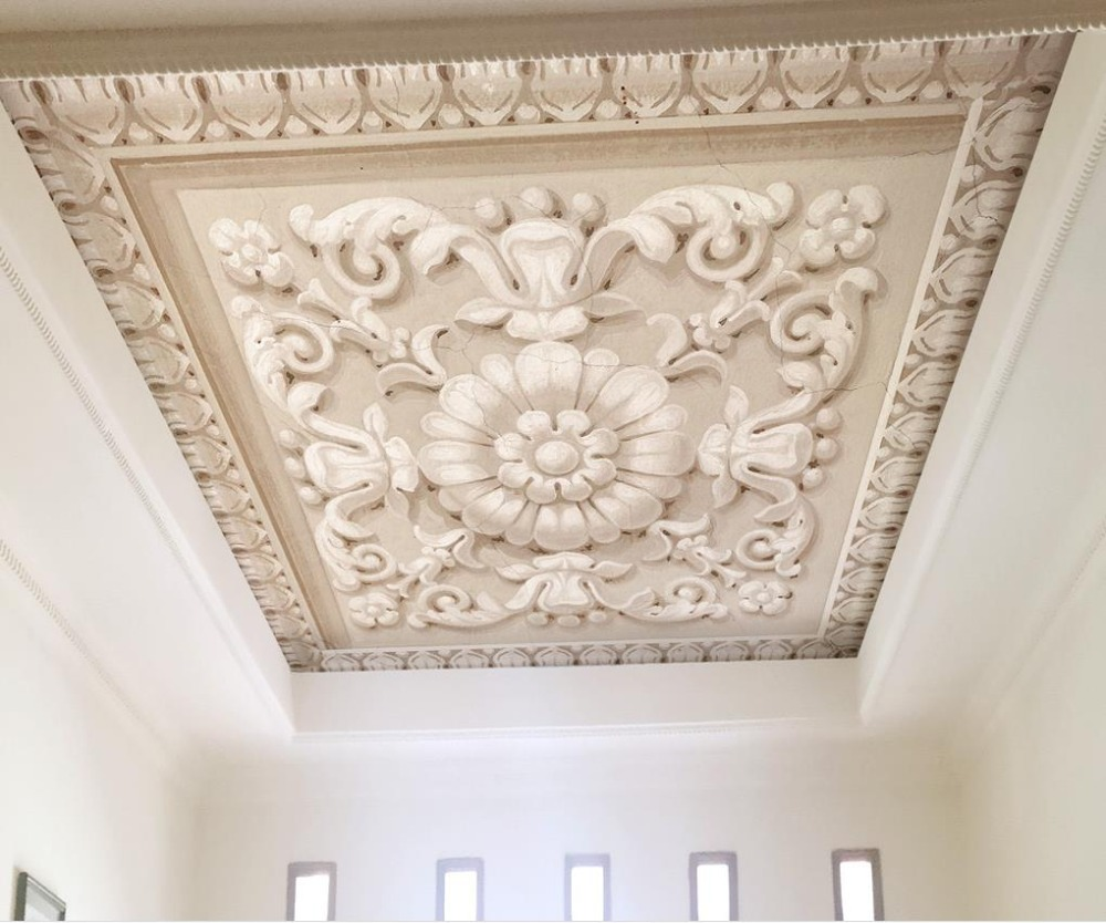Customized 3d Ceiling Photo Wallpaper European Style