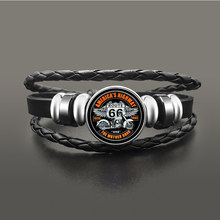 Classic US Route 66 Armband Sieraden Punk Lederen Glass Dome Cabochon Knop Snap Armbanden Voor Mannen Vrouwen(China)