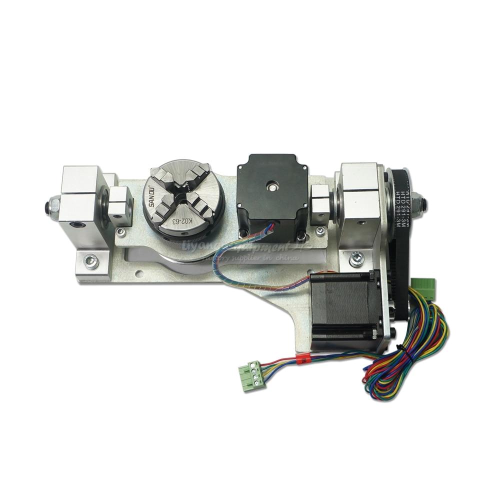 Mini macchina per incidere di cnc quinto asse di rotazione con tavolo ° asse adatto a tutte le macchina del router di cnc