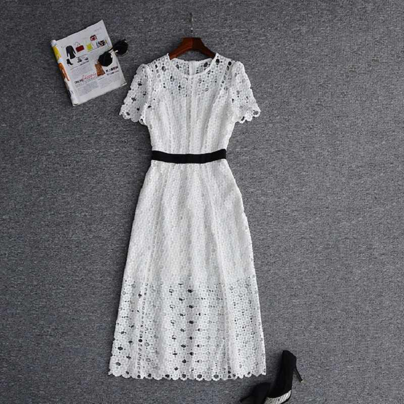 ce637d4e5de Top Quality New British Fashion Collection 2019 Style Autumn Dress Women  Hollow. RELATED PRODUCTS. 2018 Summer New Lace Dress Runway Women O-Neck Hollow  Out ...