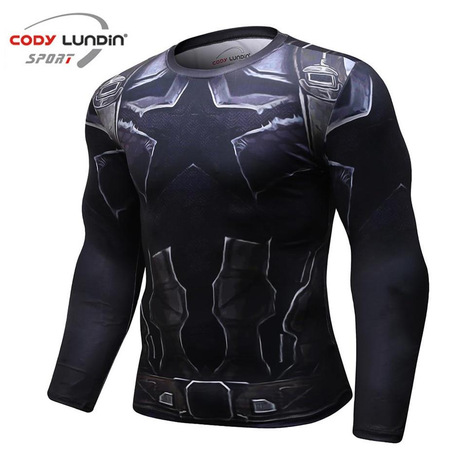 Avengers 3 Capitán América 3D impreso camisetas hombres camisetas de compresión 2018 nuevo Crossfit Tops para hombre BodyBuilding ropa