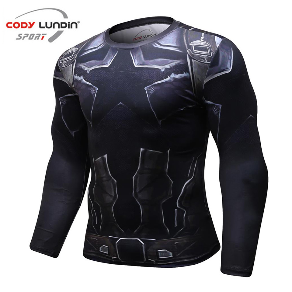 Avengers 3 Captain America 3D Printed T shirts Men Compression Shirts 2018 New Crossfit Tops For Male BodyBuilding Clothing