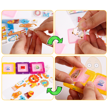 Mini 200PCS-46PCS Magnetic Designer Constructor Toy For Boys Girls Magnetic Building Blocks Magnet Educational Toys For Children 3