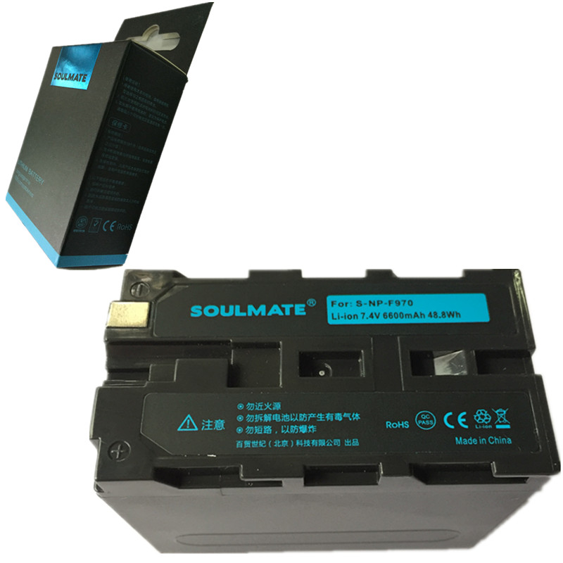 SOULMATE NP-F970 lithium batteries pack NP-F960 lithium batteries F960 Digital camera battery For <font><b>Sony</b></font> DCR-<font><b>VX2100</b></font> HDR-AX2000 image