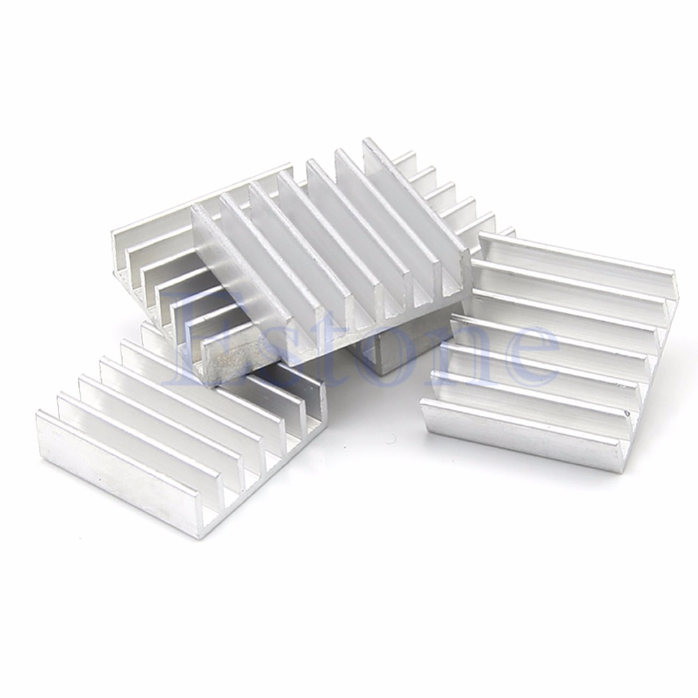 5pcs DIY LED Power Memory Chip IC 14x14x6mm Aluminum Heat Sink - L059 New hot цена 2017