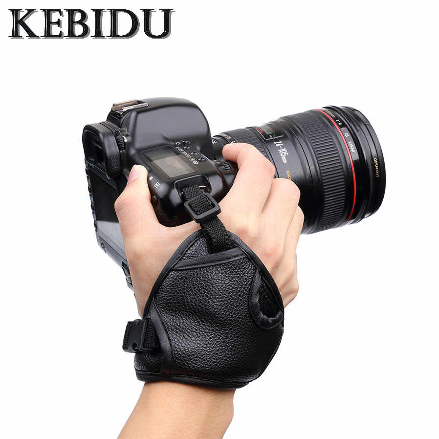 Kebidu كاميرا اليد بو الجلود المعصم حزام قبضة اليد الناعمة لكانون سوني SLR/DSLR كاميرا لنيكون D7100 d5500 D5300 D3300 D610