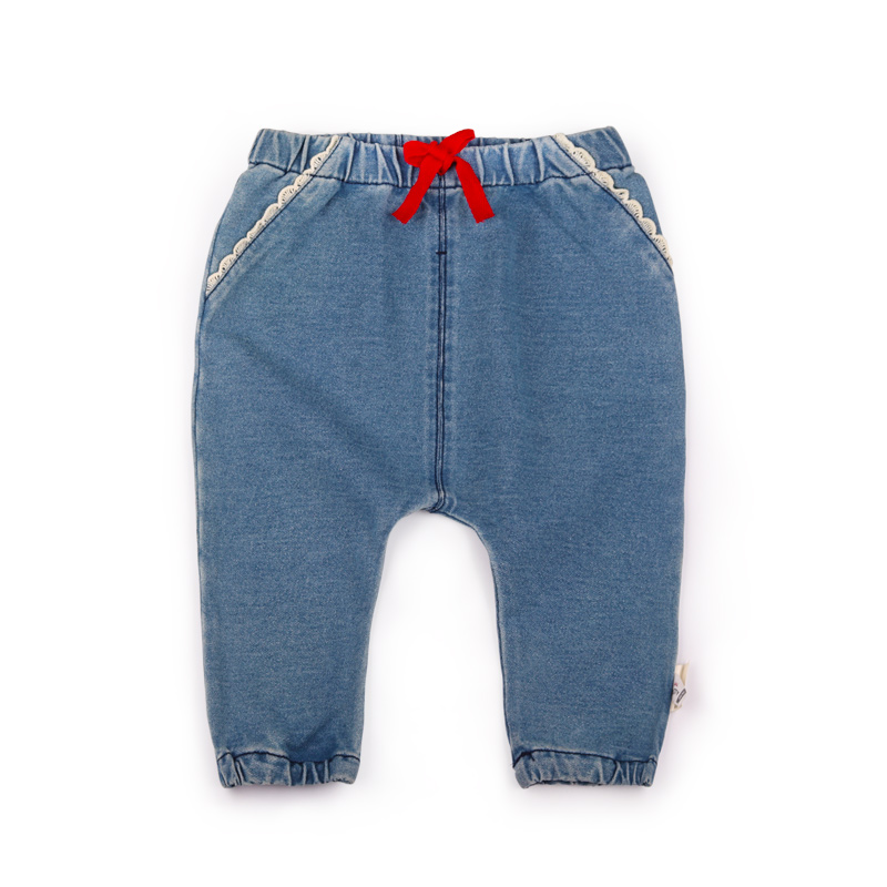 6 24M Baby Girl lace Jeans 2017 Autumn Baby Clothing Girls Denim Trousers Child Jeans Pants