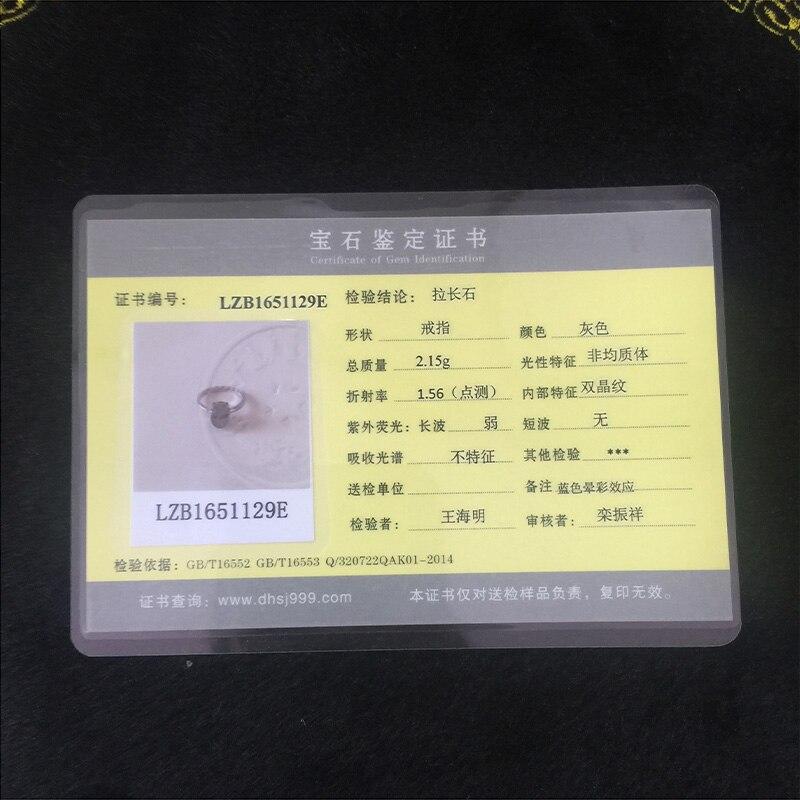 Натуральный лунный камень, серебро 925 кольца женщин реального стерлингового серебра 925 тонкие манжеты Кольцо природные овальный камень укр...
